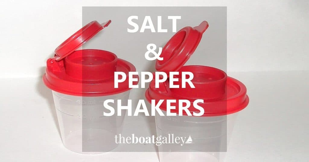 On a boat, with the typical high humidity, you need a salt shaker with a good seal on it. My choice is . . .