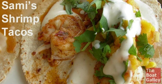 Shrimp and mango tacos . . . a little bit spicy, a little bit sweet . . . and totally wonderful!