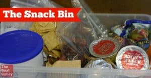 An easy way to let everyone know what's fair game for snacking . . . and what's not!