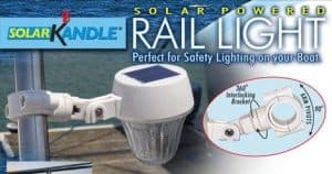 These solar lights are actually made to use on a boat, with mountings that work on stanchions and rails. Really high quality, too!
