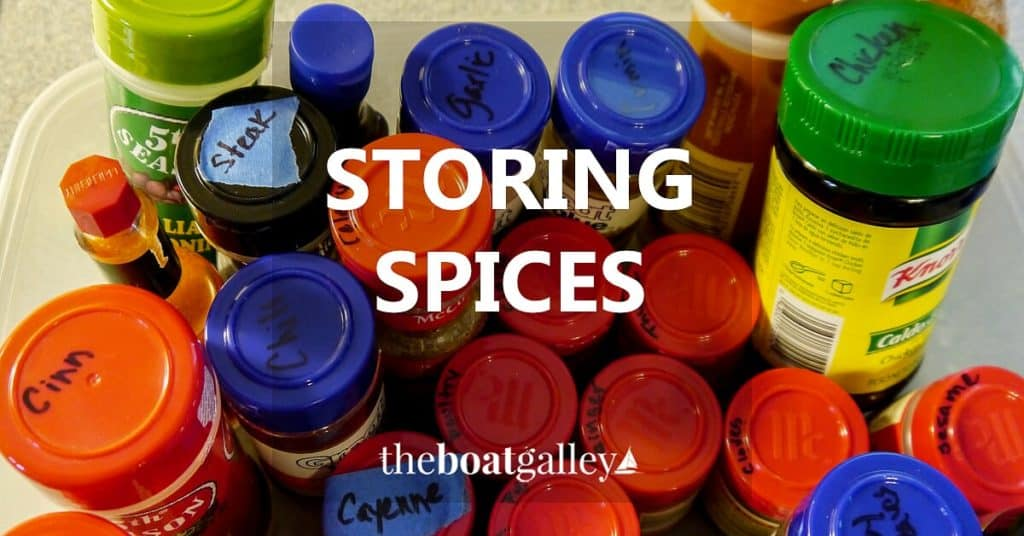 How to store spices and mix packets on a boat -- or anywhere hot and humid--for the longest life.