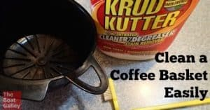 Cleaning coffee oils out of baskets, Keurig reusable filters and other permanent filters used to be tough. Finally I found a simple solution that doesn't even take much water!