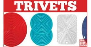 Silicone trivets are lightweight, nonbreakable, nonskid and do an excellent job of protecting counters and tables!