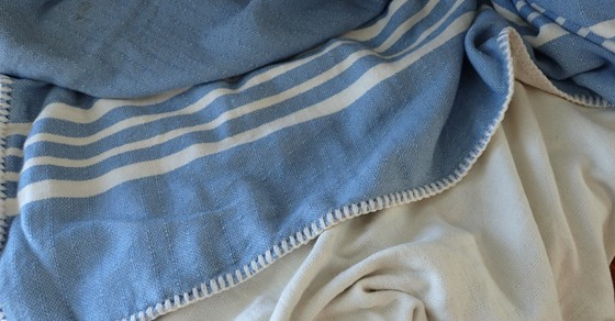 When I'm a little chilly, my Turkish Farmer's Throw is just perfect -- snuggly soft and the ideal weight. Great for cool evenings in the cockpit, a naptime coverup or extra warmth on the bed!