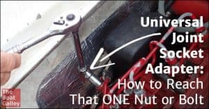 How can you reach that one nut or hex bolt that's just out of reach? With a universal joint socket adapter, of course!