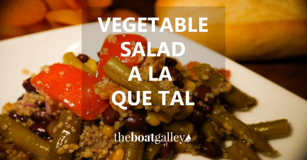 A great vegetable salad, using both fresh and canned veggies, with lots of variations!