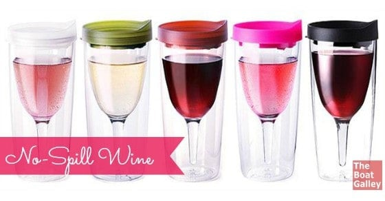Combining a sippy cup with an unbreakable wine glass, Vino2Go is another great wine glass option for boaters!