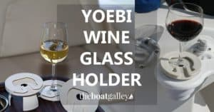The Yoebi Stemware Holder turns any standard drink holder into a secure holder for your wine glass, martini glass, brandy snifter or other stemware.
