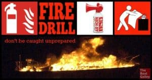 You practice other things on the boat -- docking, MOB, heavy weather tactics -- so why not have a fire drill (or two) and make sure everyone knows what to do? And when to just leave?