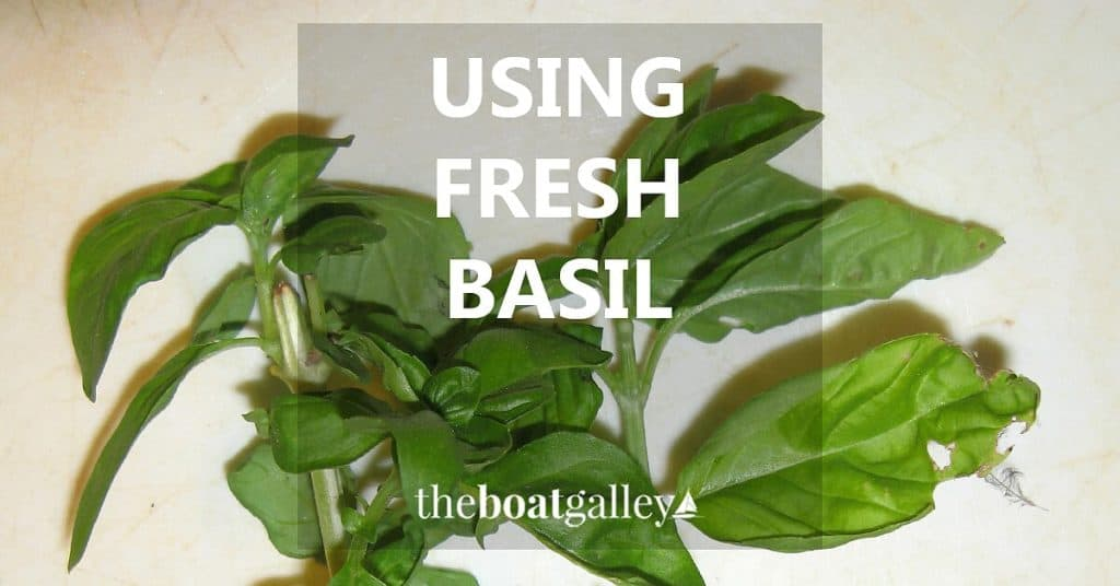 Two tips for using fresh basil will have it tasting as good in your food as it smelled in the garden -- plus a simple way to store it!