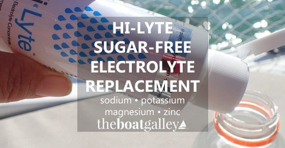 Concentrated electrolyte replacement without sugar or other sweeteners, flavoring, or color -- plus it does not need refrigeration and has a two-year shelf life. Perfect for boaters!