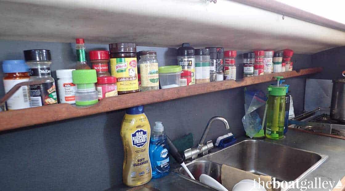 Spice storage in galley